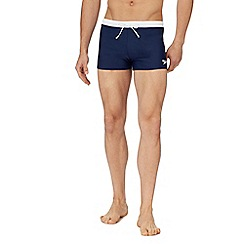 Speedo - Navy logo print swim shorts