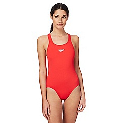 Speedo - Red logo swimsuit