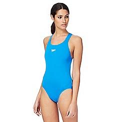Speedo - Blue logo swimsuit