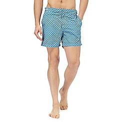 Red Herring - Blue geometric print swim shorts