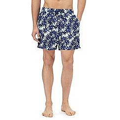 Red Herring - Blue palm tree print swim shorts