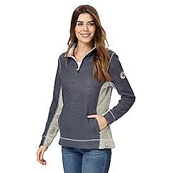 Weird Fish - Navy macaroni texture sweater