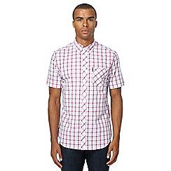 Ben Sherman - Pink checked regular fit shirt