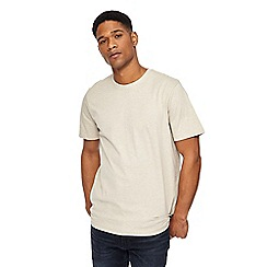 Jacamo - Big and tall dark cream crew neck t-shirt