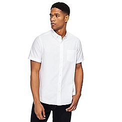 Jacamo - Big and tall white oxford long length shirt