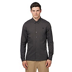 Fred Perry - Black brushed long sleeve Oxford shirt