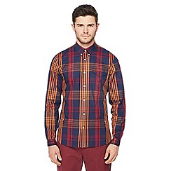 Fred Perry - Maroon twill checked shirt