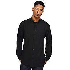 Jacamo - Big and tall black long sleeve oxford shirt