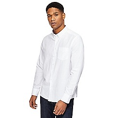 Jacamo - White long length Oxford shirt