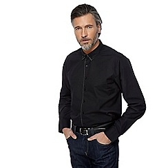 Jacamo - Big and tall black spotted trim shirt