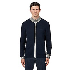 Ben Sherman - Big and tall navy funnel neck sweater