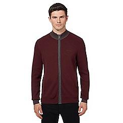 Ben Sherman - Dark red funnel neck sweater