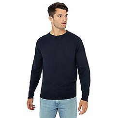 Jacamo - Big and tall navy v-neck jumper