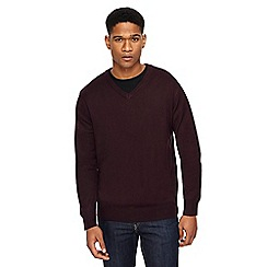 Jacamo - Dark purple V-neck jumper