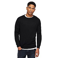 Jacamo - Big and tall black crew neck jumper