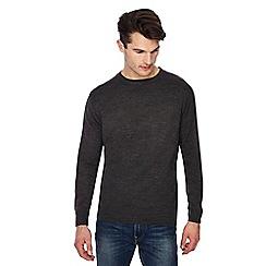 Jacamo - Dark grey crew neck jumper