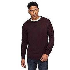 Jacamo - Big and tall dark purple crew neck jumper