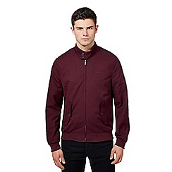 Ben Sherman - Big and tall dark red funnel neck Harrington jacket