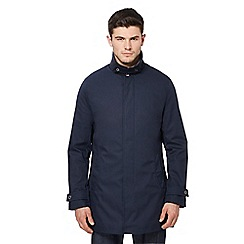 Ben Sherman - Big and tall navy mac coat