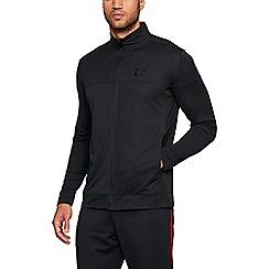 Under Armour - Black sport style pique warm up jacket