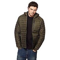 Threadbare - Dark green 'Glendale' quilted jacket