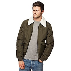 Threadbare - Green 'Camden' bomber jacket