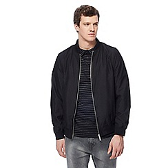 Jacamo - Big and tall black long length bomber jacket 450190649df7