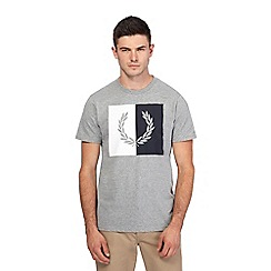 Fred Perry - Grey logo print t-shirt