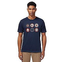 Ben Sherman - Navy target logo print t-shirt
