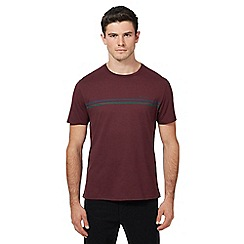 Ben Sherman - Dark red embroidered logo t-shirt