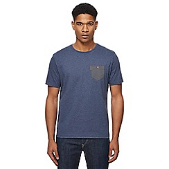 Ben Sherman - Dark blue arrow print chest pocket t-shirt