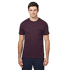 Fred Perry - Maroon checked trim pocket t-shirt