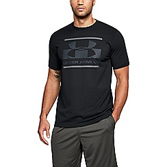 Under Armour - Black 'Charged Cotton®' blocked sport style logo t-shirt