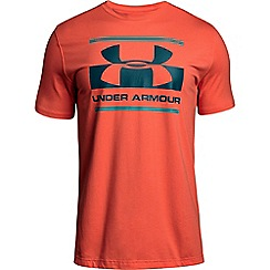 Under Armour - Orange 'Charged Cotton®' blocked sport style logo t-shirt