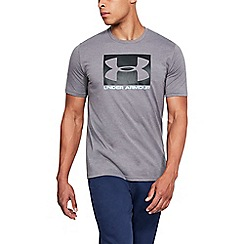 Under Armour - Dark grey 'Charged Cotton®' boxed sport style t-shirt