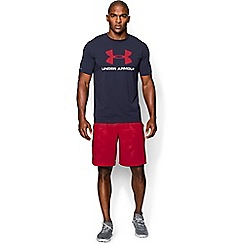Under Armour - Navy blue 'Charged Cotton®' sportstyle logo t-shirt