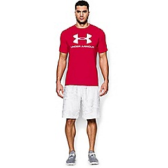 Under Armour - Red 'Charged Cotton®' sportstyle logo t-shirt