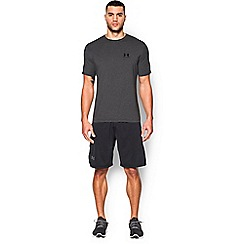 Under Armour - Black Charged Cotton® left chest lockup t-shirt