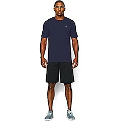 Under Armour - Blue Charged Cotton® left chest lockup t-shirt