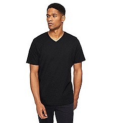 Jacamo - Big and tall black v-neck t-shirt