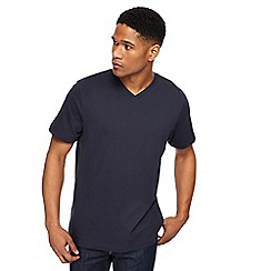 Jacamo - Big and tall navy v-neck t-shirt