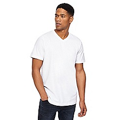 Jacamo - White V-neck t-shirt