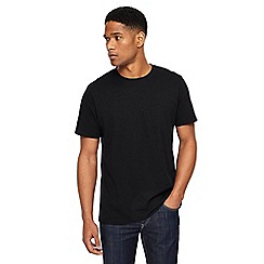Jacamo - Big and tall black crew neck t-shirt