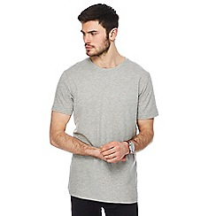 Jacamo - Big and tall grey crew neck long length t-shirt