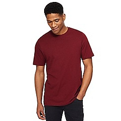 Jacamo - Dark red crew neck t-shirt