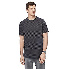 Jacamo - Black striped long length t-shirt