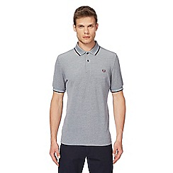 Fred Perry - Grey embroidered logo polo shirt