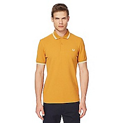 Fred Perry - Mustard logo embroidered polo shirt