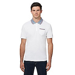 Ben Sherman - Big and tall white tipped oxford collar polo shirt