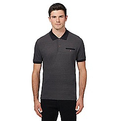 Ben Sherman - Big and tall dark grey oxford polo shirt